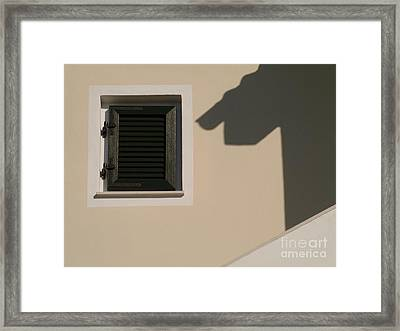 Shadow And Windows Framed Print