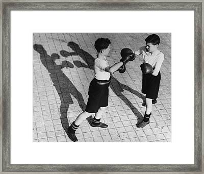 Shadow Boxing Framed Print by Reg Speller