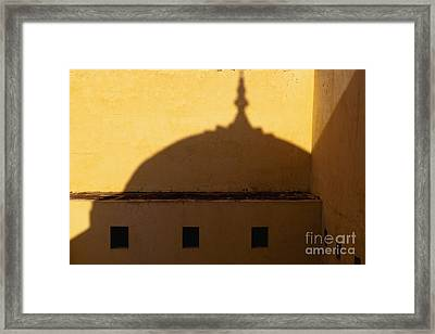 Shadow Cast On The Amber Fort Framed Print by Inti St. Clair
