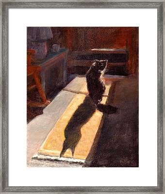 Shadow Cat Framed Print by Rita Bentley