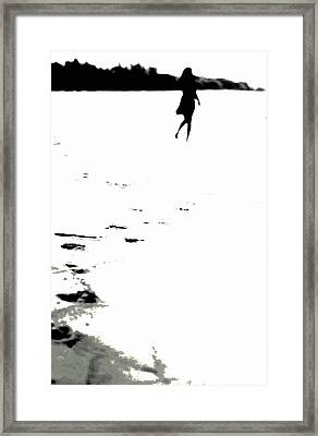Shadow Footprints Of My Past Framed Print by Jenny Rainbow