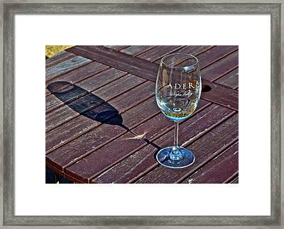 Shadow Glass Framed Print by Lori Leigh