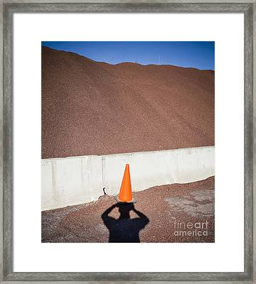 Shadow Of A Photographer Taking Picture Framed Print