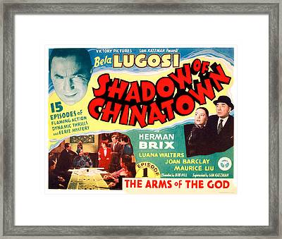 Shadow Of Chinatown, Top Left Bela Framed Print by Everett