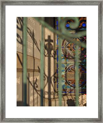 Framed Print featuring the photograph Shadow Of The Cross by Cheri Randolph