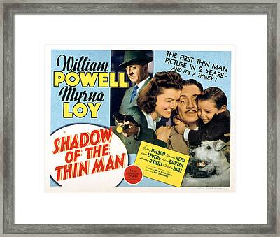 Shadow Of The Thin Man, William Powell Framed Print by Everett