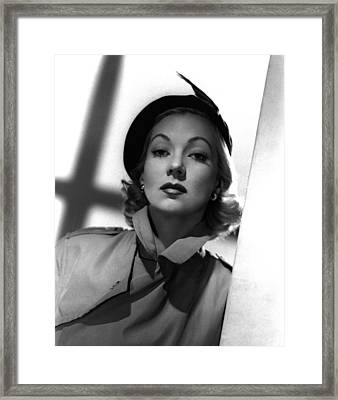 Shadow On The Wall, Ann Sothern, 1950 Framed Print