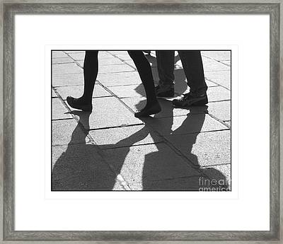 Framed Print featuring the photograph Shadow People by Victoria Harrington