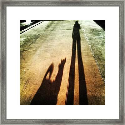#shadow #pet #doglove #dog Framed Print