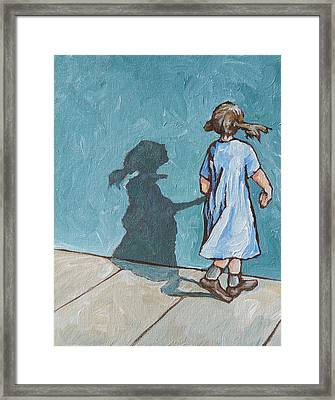 Shadow Play Framed Print by Sandy Tracey