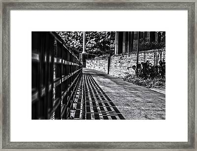 Framed Print featuring the photograph Shadow Walk by Tom Gort