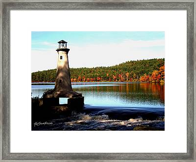 Shadows And A Lighthouse Framed Print by Ruth Bodycott