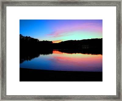 Shadows At Sunset Framed Print