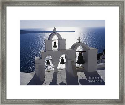 Shadows Of Santorini Framed Print
