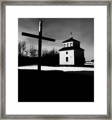 Shadows Of The Bell Tower Framed Print by Empty Wall