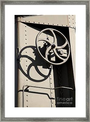 Shadows Of The Train Framed Print by Leslie Leda