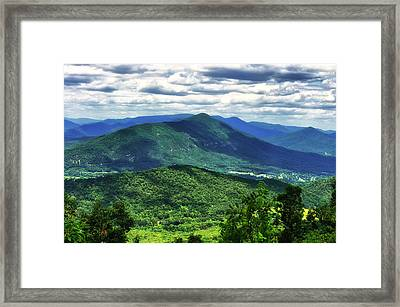 Shadows On The Mountains Framed Print