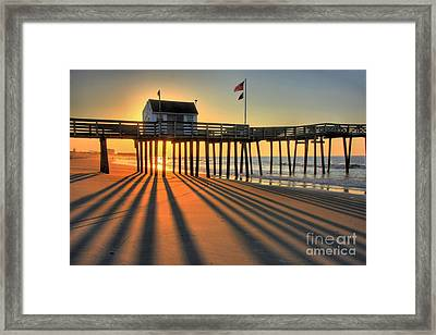 Shadows On The Shore Framed Print