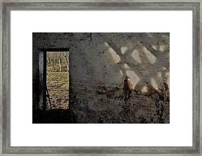 Shadows On The Wall Framed Print by Odd Jeppesen