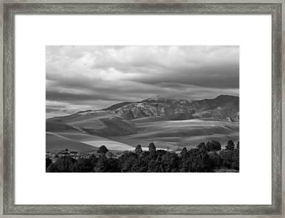 Shadows Sand Mountians Framed Print by Wilma  Birdwell