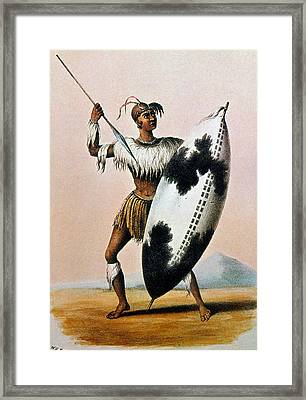 Shaka Zulu (c1787-1828) Framed Print by Granger