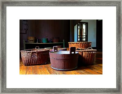 Shaker Baskets Framed Print by Lone Dakota Photography