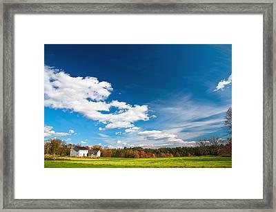 Shaker Village Farm House Framed Print by Robert Clifford