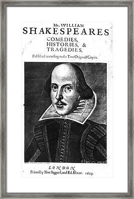 Shakespeare: Folio, 1623 Framed Print