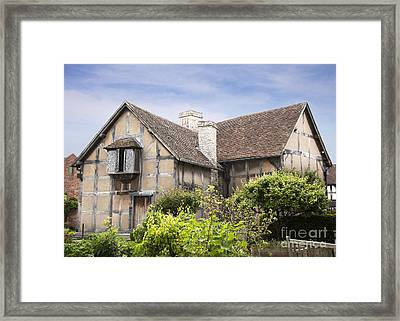 Shakespeare's Birthplace. Framed Print by Jane Rix