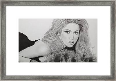 Shakira Framed Print by Andrew Nelson