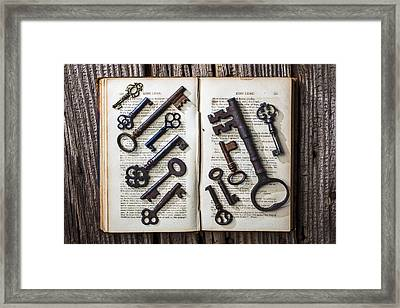 Shakspeare King Lear And Old Keys Framed Print by Garry Gay