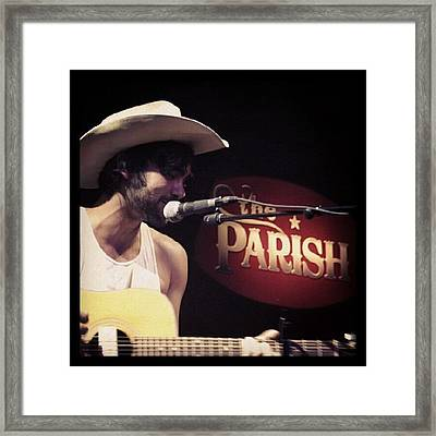 Shaky Graves At The Parish Framed Print by James Granberry