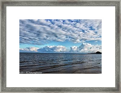 Framed Print featuring the photograph Shallow Waves by Rachel Cohen
