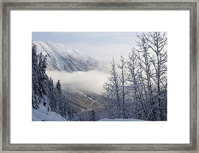 Framed Print featuring the photograph Shames Mountain by Sylvia Hart