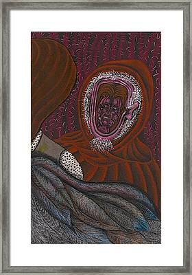 Shamsiel And The Little Father Framed Print by Al Goldfarb