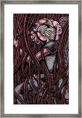 Shamsiel In The Roots Framed Print by Al Goldfarb