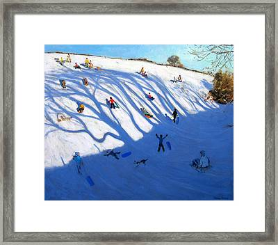 Shandows On A Hill Monyash Framed Print by Andrew Macara