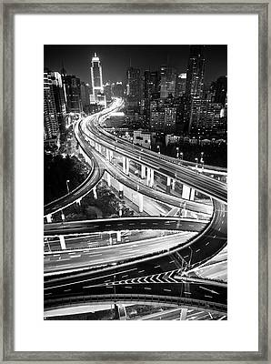 Shanghai, Yanan East Interchange Framed Print by Yves ANDRE