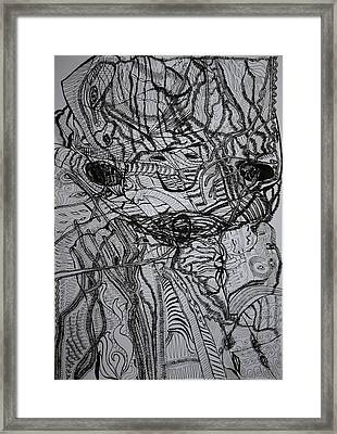 Framed Print featuring the drawing Shango by Gloria Ssali