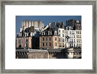 Shapes In Paris Framed Print by John Rizzuto
