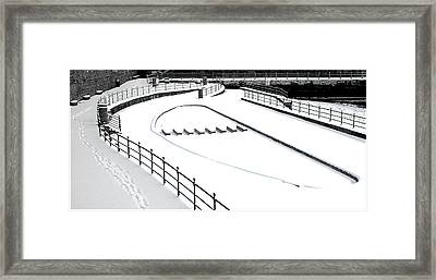 Shapes In The Snow Framed Print by Barry Hayton