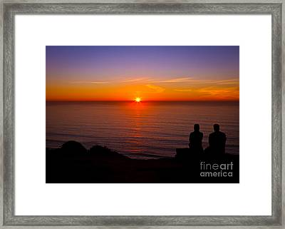Share A Sunset To Start 2012 Framed Print by Carl Jackson