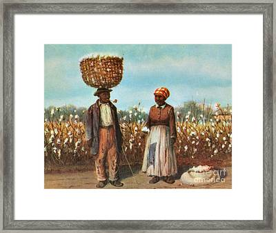 Sharecroppers, 19th Century Framed Print