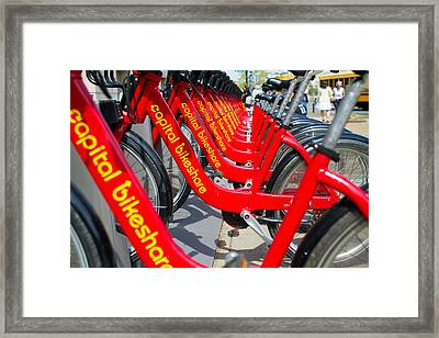 Shared Bikes Framed Print by Dan Wells