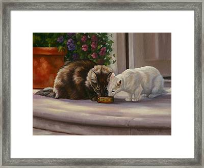 Sharing Framed Print by Kathleen  Hill