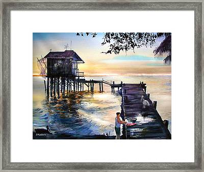 Sharing The Bounty Framed Print