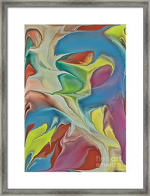 Sharks In Life Framed Print by Deborah Benoit