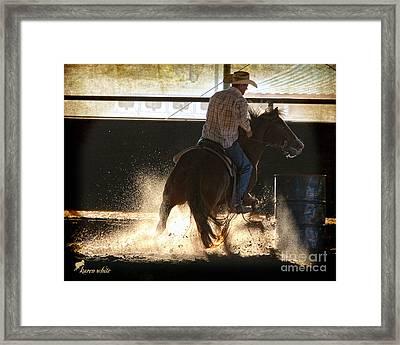 Sharp Turn Framed Print by Karen White