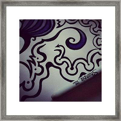 #sharpie #sharpiesquad #sharpiemarker Framed Print