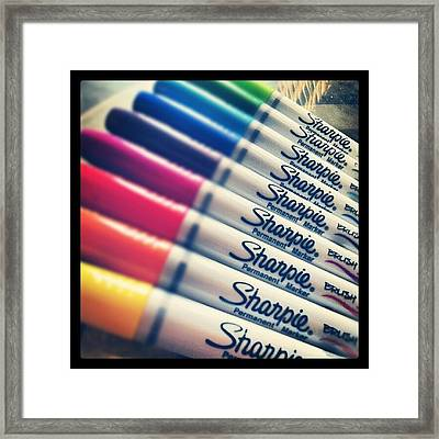 #sharpie Thanks For The Goodies ! Framed Print